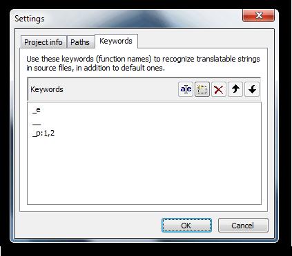 Poedit Project Keywords